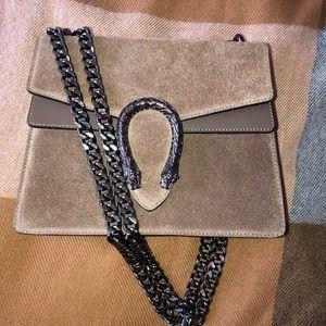 Genuine leather tan shoulder bag
